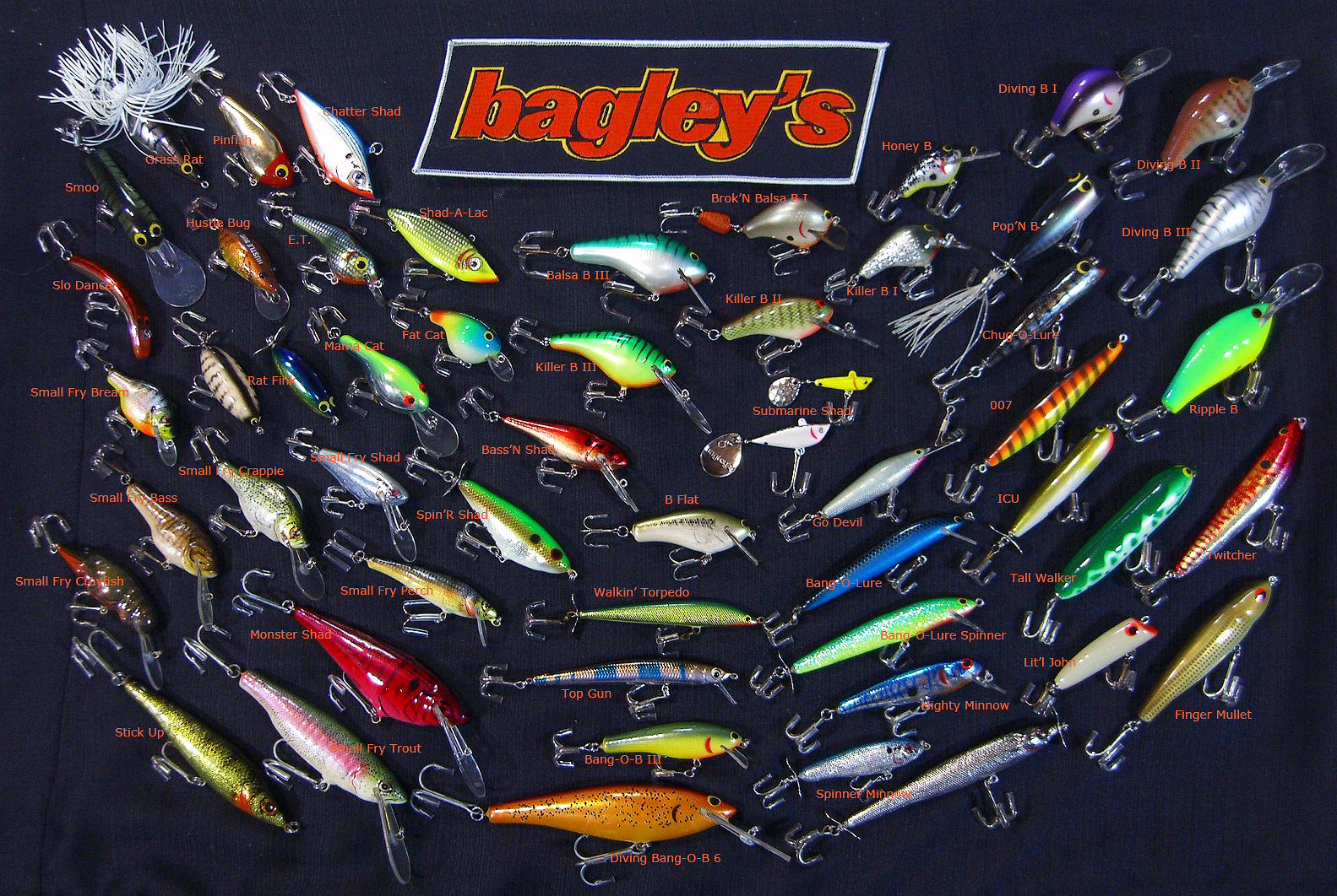 Identify Lures of The Bagley Bait Co    The Colors of Bagley's