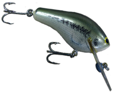 Details about  /Bagley's Bang O Lure #2 LB4 Little Bass On White