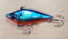 Bagley Chatter Shad F7OB (Blue on Silver Chrome/Orange Belly)[8]