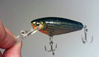 Bagley Small Fry Shad FCS9 (Crippled Shad/Chartreuse on Chrome)[9]