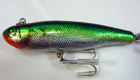 Bagley Finger Mullet H69S (Hot Green/Chartreuse on Silver Foil)[6]